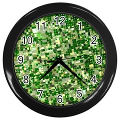 Crops Kansas Wall Clocks (black) by Nexatart