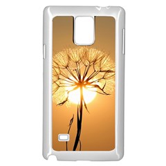 Dandelion Sun Dew Water Plants Samsung Galaxy Note 4 Case (white) by Nexatart