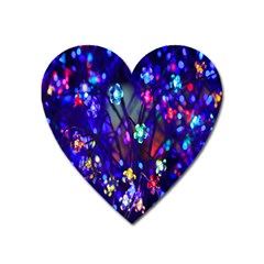 Decorative Flower Shaped Led Lights Heart Magnet by Nexatart