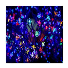 Decorative Flower Shaped Led Lights Face Towel by Nexatart