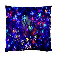 Decorative Flower Shaped Led Lights Standard Cushion Case (two Sides) by Nexatart