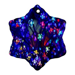 Decorative Flower Shaped Led Lights Snowflake Ornament (two Sides)