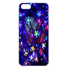 Decorative Flower Shaped Led Lights Apple Iphone 5 Seamless Case (white)