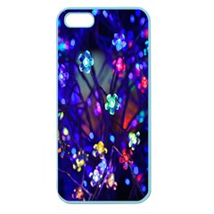 Decorative Flower Shaped Led Lights Apple Seamless Iphone 5 Case (color) by Nexatart