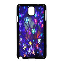 Decorative Flower Shaped Led Lights Samsung Galaxy Note 3 Neo Hardshell Case (black) by Nexatart