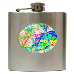 Design Background Concept Fractal Hip Flask (6 Oz) by Nexatart