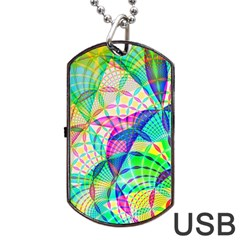 Design Background Concept Fractal Dog Tag Usb Flash (two Sides)
