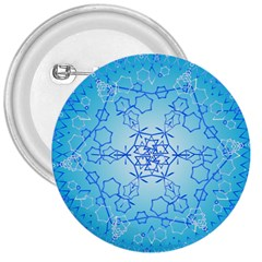 Design Winter Snowflake Decoration 3  Buttons by Nexatart