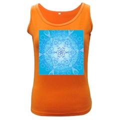 Design Winter Snowflake Decoration Women s Dark Tank Top by Nexatart