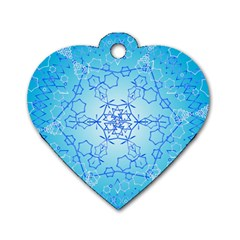 Design Winter Snowflake Decoration Dog Tag Heart (two Sides)