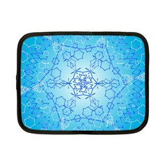 Design Winter Snowflake Decoration Netbook Case (small)  by Nexatart