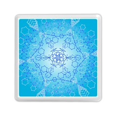 Design Winter Snowflake Decoration Memory Card Reader (square)