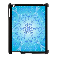 Design Winter Snowflake Decoration Apple Ipad 3/4 Case (black) by Nexatart