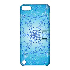 Design Winter Snowflake Decoration Apple Ipod Touch 5 Hardshell Case With Stand by Nexatart