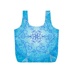 Design Winter Snowflake Decoration Full Print Recycle Bags (s)  by Nexatart