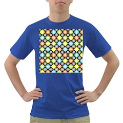 Diamonds Argyle Pattern Dark T-shirt by Nexatart