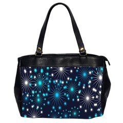 Digitally Created Snowflake Pattern Office Handbags (2 Sides)  by Nexatart