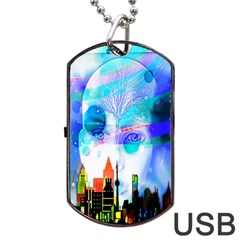 Dirty Dirt Spot Man Doll View Dog Tag Usb Flash (one Side) by Nexatart