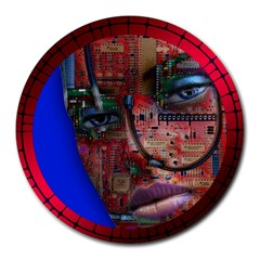 Display Dummy Binary Board Digital Round Mousepads by Nexatart
