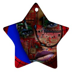 Display Dummy Binary Board Digital Ornament (star) by Nexatart
