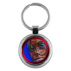 Display Dummy Binary Board Digital Key Chains (round)  by Nexatart