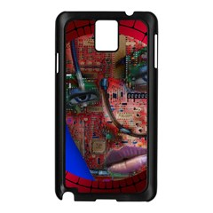 Display Dummy Binary Board Digital Samsung Galaxy Note 3 N9005 Case (black) by Nexatart