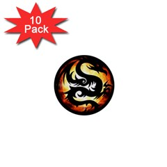 Dragon Fire Monster Creature 1  Mini Buttons (10 Pack)