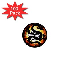 Dragon Fire Monster Creature 1  Mini Magnets (100 Pack)  by Nexatart