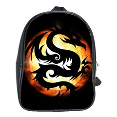 Dragon Fire Monster Creature School Bags(large)  by Nexatart