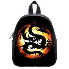 Dragon Fire Monster Creature School Bags (small)  by Nexatart
