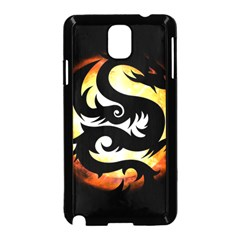 Dragon Fire Monster Creature Samsung Galaxy Note 3 Neo Hardshell Case (black) by Nexatart
