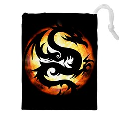 Dragon Fire Monster Creature Drawstring Pouches (xxl)