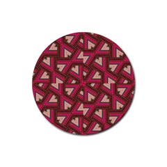 Digital Raspberry Pink Colorful Rubber Coaster (round)  by Nexatart