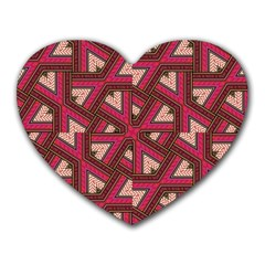 Digital Raspberry Pink Colorful Heart Mousepads by Nexatart