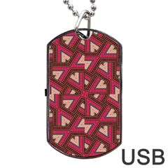 Digital Raspberry Pink Colorful Dog Tag Usb Flash (two Sides)