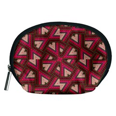 Digital Raspberry Pink Colorful Accessory Pouches (medium)