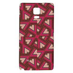 Digital Raspberry Pink Colorful Galaxy Note 4 Back Case by Nexatart