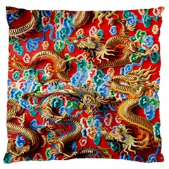 Dragons China Thailand Ornament Large Cushion Case (one Side) by Nexatart