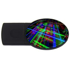 Electronics Board Computer Trace Usb Flash Drive Oval (2 Gb) by Nexatart