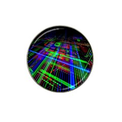Electronics Board Computer Trace Hat Clip Ball Marker (4 Pack) by Nexatart