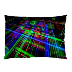Electronics Board Computer Trace Pillow Case by Nexatart