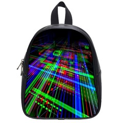 Electronics Board Computer Trace School Bags (small)  by Nexatart