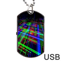 Electronics Board Computer Trace Dog Tag Usb Flash (two Sides) by Nexatart