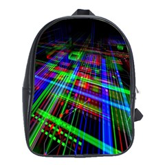 Electronics Board Computer Trace School Bags (xl)  by Nexatart