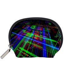 Electronics Board Computer Trace Accessory Pouches (small)  by Nexatart