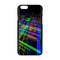 Electronics Board Computer Trace Apple Iphone 6/6s Black Enamel Case by Nexatart