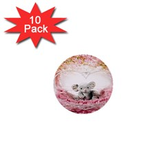 Elephant Heart Plush Vertical Toy 1  Mini Buttons (10 Pack)