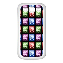 Email At Internet Computer Web Samsung Galaxy S3 Back Case (white) by Nexatart