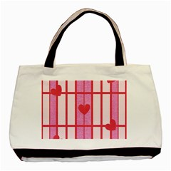 Fabric Magenta Texture Textile Love Hearth Basic Tote Bag