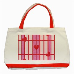 Fabric Magenta Texture Textile Love Hearth Classic Tote Bag (red) by Nexatart